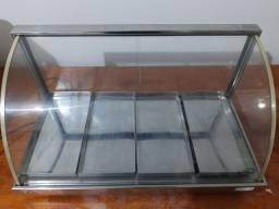 Estufa para salgados de alumínio com 4 bandejas