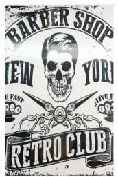 Vendo placa Vintage para Barbearia