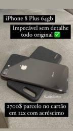 iPhone 8 Plus 64gb impecável sem detalhe