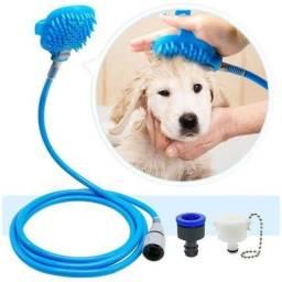Mangueira De Silicone Pet Luva Massageadora Para Banho Cães e Gatos