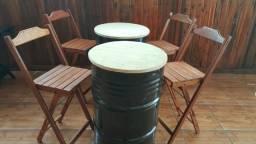 Mesa Dobravel Bar- Conjunto de Tambor
