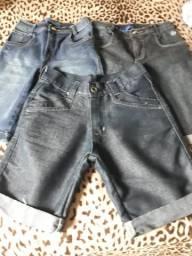 Lote shorts infantil.