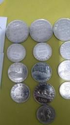 18 moedas de prata
