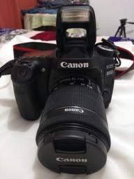 Câmera Canon eos 80d dois eventos realizados completa.