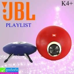 Caixa de Som Portátil Bluetooth JBL Playlist K4+ oferece som estéreo