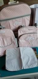 Mala, sacola, mochila e trocador bebê