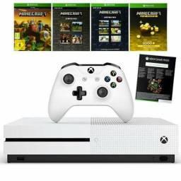 Xbox one S 1TB branco com jogo Minecraft garantia de 6 meses