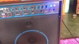 Caixa de som Bluetooth, USB, rádio