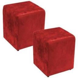 Vendo kit 2 Puffs quadrados suede