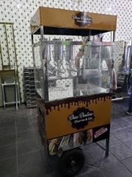 Maquina de churros com tres doceiras beloz