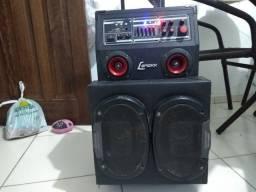 Caixa de som amplificada ou troco por tarrafa malha 5 de argola