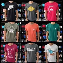 Kit 10 camisetas fio 30 de SC top promoçao