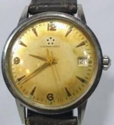 Antigo relógio de pulso suíço eternamatic, automatico, calendário