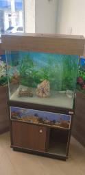 Móvel com aquário
