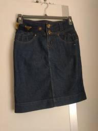 Saia Jeans moda evangélica