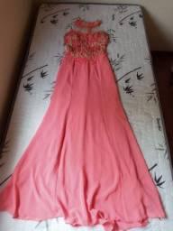 Vestido de festa rose tamanho p
