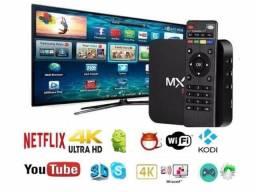 Transforme sua TV em Smart - Roda Netflix, Youtube, Jogos e Muito Mais - Tv Box 32GB 5GHz