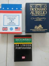 Dicionarios Aurelio, de portugues e ingles, e portugues