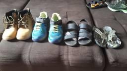 Lote de sapatos masculinos infantil