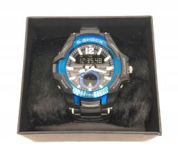Relógio Casio G-shock GravityMaster Caixa Azul e Pulseira Preta Com Garantia Produto Novo