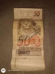 Vendo a primeira nota de r$ 50