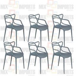6 Cadeiras Allegra modelo moderno 6un.