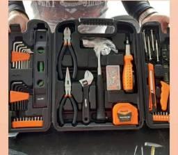 Kit de ferramenta 129 peças  multi uso completo
