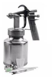 Pistola Pintura Baixa Pressão Alumínio 1 Litro + Acessórios + Pague No Ato Da Entrega