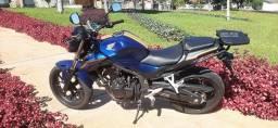Vendo ou Troco moto CB 500F azul, 2017/2018 - leia a descrição