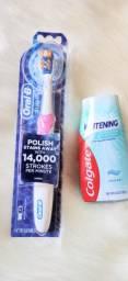 Escova elétrica oral B +pasta clareadora