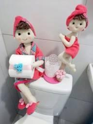 Kit Boneca para decoração de banheiros