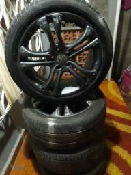 4 rodas con peneus aro 17