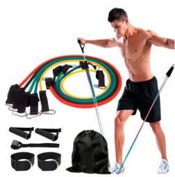 Kit Elásticos para Musculação - 11 itens
