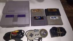 Super Nintendo fat branquinho em ótimo estado tudo original