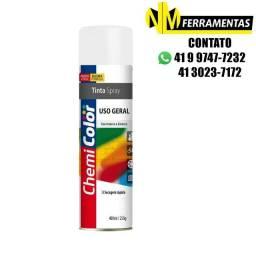 Tinta Spray Uso Geral Branco Brilhante 400ml - Chemicolor