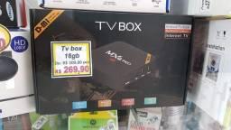 Tv box 16gb rom 3gb ram (novo)