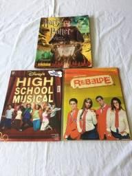 Álbuns de Figurinhas (3 unidades) : Rebelde, High School Music, Harry Potter