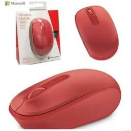 Mouse Sem Fio Microsoft 1850, Vermelho