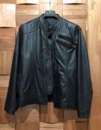 Jaqueta de couro de antílope