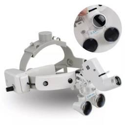 Cabeça binocular cirurgião  lupas 3.5x-r 280-380mm com farol conduzido leia o anúncio<br>