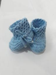 Botinhas em lã para bebê