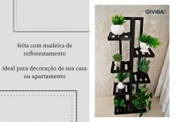 Floreira Prateleira Pedestal Madeira Vaso Flores Mod101