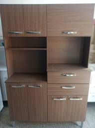 Armário Kit Cozinha 7 Portas e 2 Gavetas Com espaço para Microondas