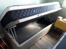 cama box solteiro (Bau)