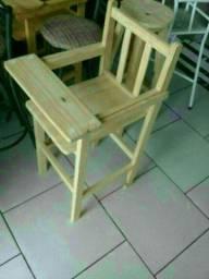 Cadeira de alimentação infantil novas de madeira