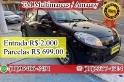 Título do anúncio: SANDERO 1.0, ANO 2013, PARCELAS R$ 699,00
