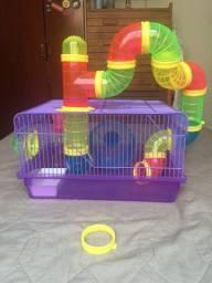 Gaiola Hamster com tubo e roda