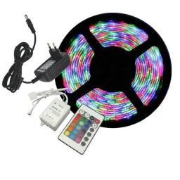 Fita de Led RGB com controle e fonte Completa
