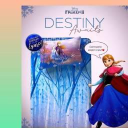 Jogo Frozen com fronha iluminada