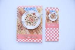 Caderno de Receitas e bloco lista de compras - Presente dia das Mães